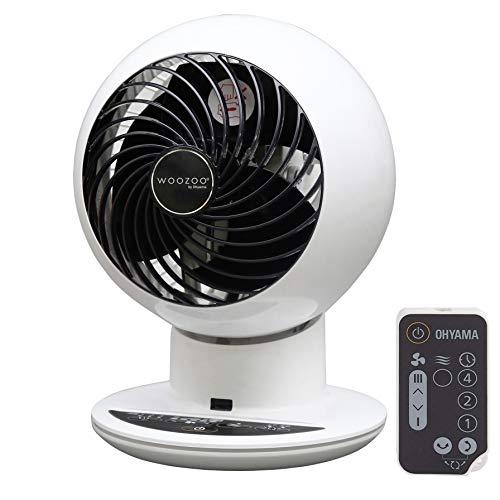 Iris Ohyama, ventilador silencioso, oscilante y ultra potente con control remoto - Woozoo - PCF-SC15T, blanco, 38 W, 30 m², 21 x 21 x 29 cm
