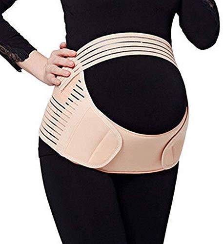 JADE KIT Cinturón de Maternidad Cinturón de Soporte, Correa de Refuerzo Prenatal de la Espalda para Aliviar el Dolor Pélvico, de la Cintura, del Abdomen y de la Cadera【M】