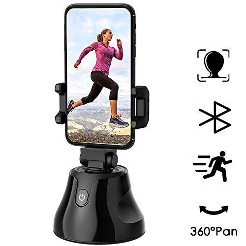 JTD Selfie Stick 360 ° Rotación Auto Cara Objeto Seguimiento Inteligente Cámara de Disparo Teléfono Soporte de Montaje para Smartphone Vlog Shooting con Todos los Teléfonos Inteligentes (negro)