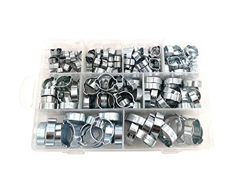 Juego de abrazaderas para 2 oídos, 175 piezas, de acero
