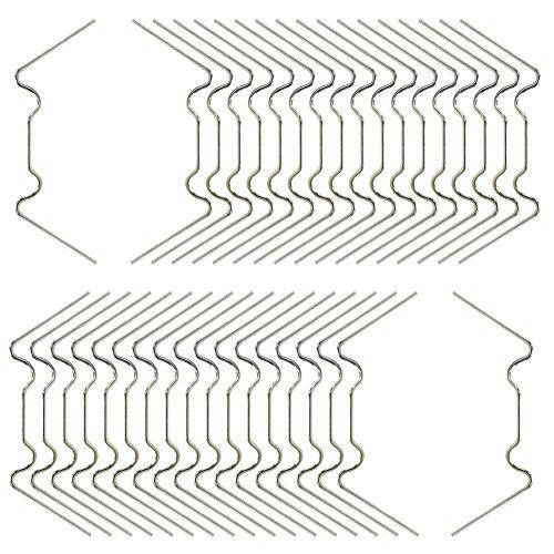 KEAYOO 100 Piezas Acero Inoxidable W Tipo 1.6 mm de Espesor Clip Vidrio de Invernadero