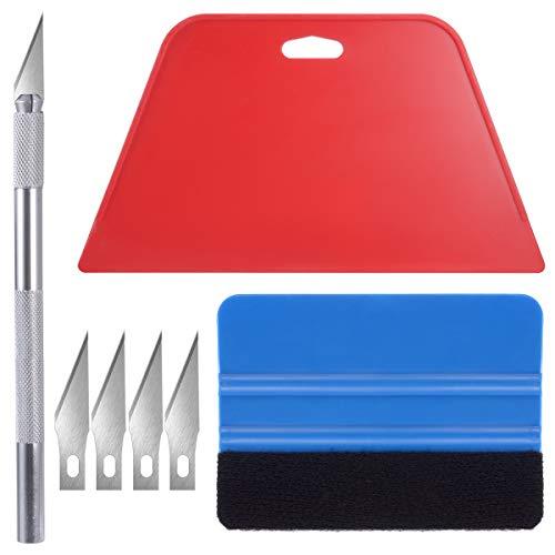 Kit de herramientas de papel pintado, herramientas de película para envolver el coche y papel de contacto