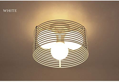 Lámpara de techo / lámpara de techo de hierro forjado, minimalista en negro y blanco, lámpara de hierro forjado de 5 vatios Decoración creativa Accesorio para pasillo Pasillo Salón (D40 * H30cm)-