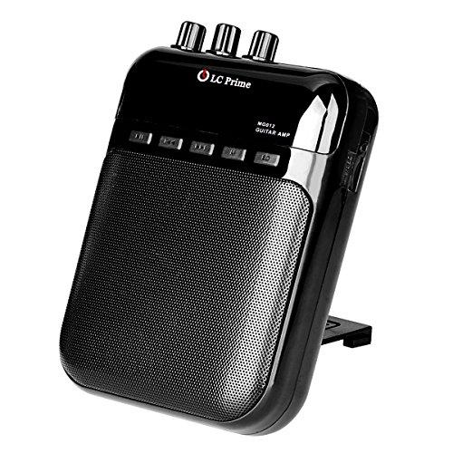 LC Prime Mini Amplificador Guitarra Altavoz Portátil, Grabador y Reproductor de MP3 - Batería Recargable, Múltiples Jack de Entrada y Salida plástico Black, by