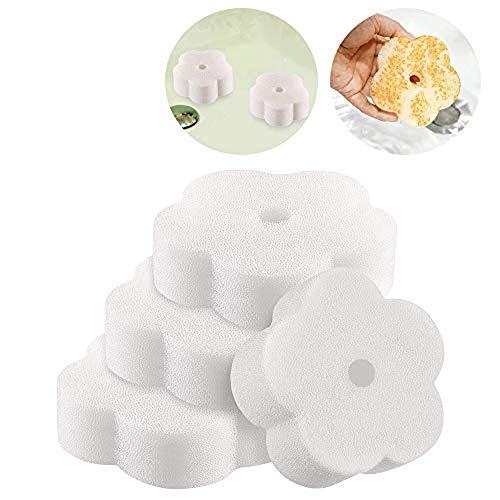 Lifreer Esponja de Espuma Absorbente de Aceite, Esponja de Espuma de Filtro para bañera de hidromasaje, Piscina y SPA con Forma de Flor Accesorios de bañera de Esponja de Espuma (6 Piezas)