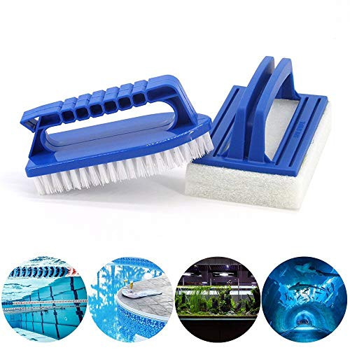 Lifreer - Kit de Limpieza para bañera de hidromasaje (Incluye Cepillo para Fregar, Cepillo para Piscina, para spas y Jacuzzi)