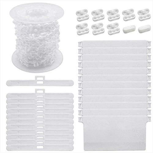 LINVINC Accesorios para Persianas Verticales - Accesorios para Cortinas Verticales de Plástico de 89 mm (3.5 Pulgadas), Blanco