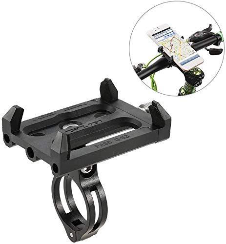 Lixada Antideslizante Bicicleta Soporte de Teléfono Ajustable Soporte de Montaje para 3.6-6.2 Inch Teléfono Móvil Inteligente (Soporte)