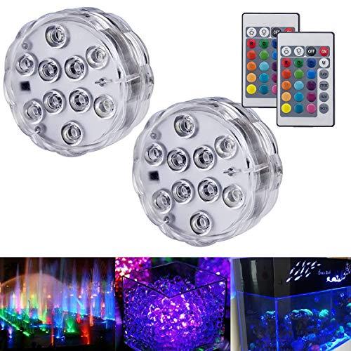 Luces sumergibles Luces LED sumergibles con luces subacuáticas a prueba de agua con control remoto Luces decorativas LED para iluminación flotante Florero, pecera, bodas