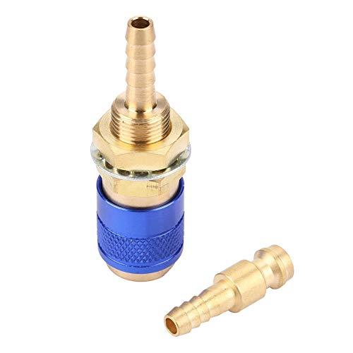M6 Conector rápido Juego Adaptador rápido Adaptador de gas refrigerado por agua Manguera para antorcha soldadora MIG TIG Racor para antorcha(Azul)
