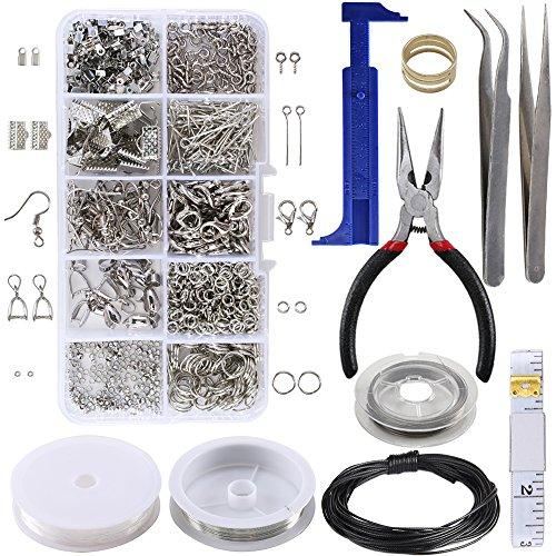 ManYee Jewelry Making Kit Pulseras Collares Accesorios de joyería Herramientas de juego Materiales Juegos de alambre Adecuado para hacer Braceletc Necklace Jewelry, Craft