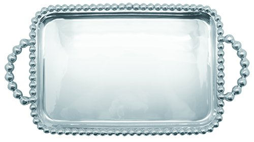 Mariposa Pearled Medium Service Tray by Mariposa String of Pearls Collection