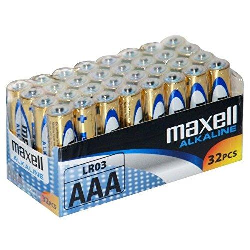 Maxell LR03 - Pilas AAA, 32 unidades