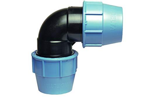 MDPE PE - Codo de plástico para tubería de agua (90 grados)