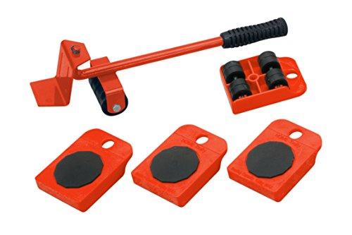 Meister 419900 - Transportador de muebles con ruedas, juego de 5 piezas