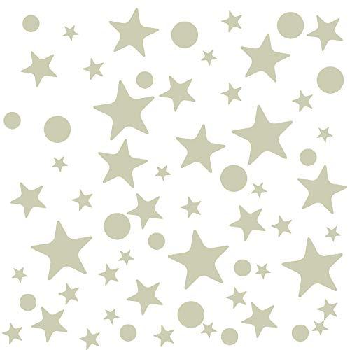 Naler condecoraciones de la Fiesta Punto y Estrella Pegatinas Luminoso Fluorescentes Adhesivo decoración Pared cámara de bebé Niños decoración Mignon Interruptor