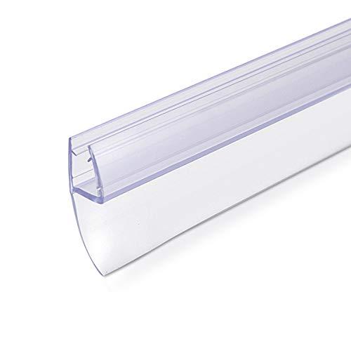 Navaris junta de recambio para ducha - Repuesto para puerta de vidrio con grosor de 6MM - Sello protector contra salpicaduras 180° de 100CM de largo