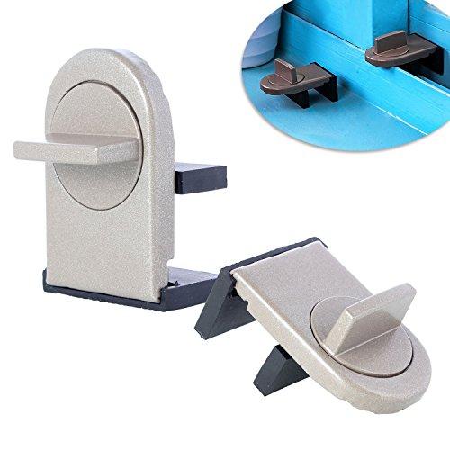 Neuftech 2 x Ajustable Bloqueo de Ventanas Cerradura de Seguridad del bebé para Ventanas y Puertas