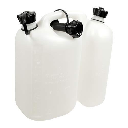 OREGON 562408 combi-can transparente, 5 litros de combustible y aceite 3 litros