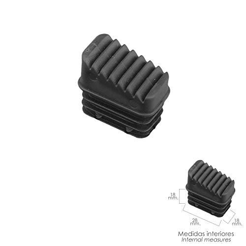 ORYX 23010050 Contera Escaleras Aluminio Trasera, de 3 a 8 Peldaños, Negro