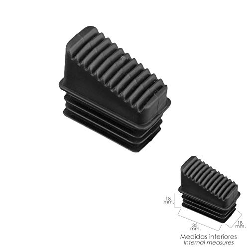 ORYX 23010055 Contera Escaleras Aluminio Delantera de 3 a 6 Peldaños, Negro