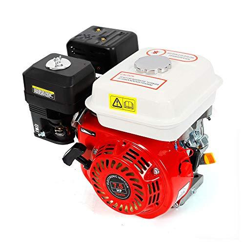 OUBAYLEW Motor de Gasolina de 5,1 kW, 7,5HP, 4 Tiempos Recambio Coche Herramienta Vehículo, Motor de reemplazo Ideal para Bombas de Agua Segadoras Motoazada
