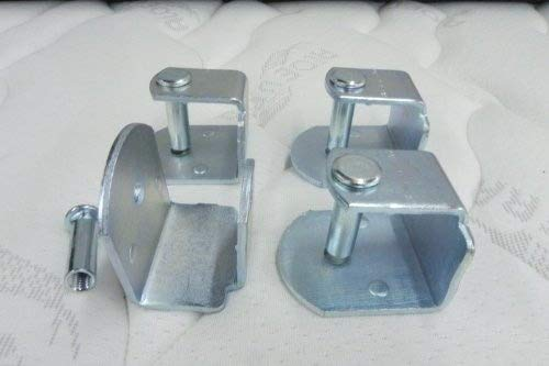 Pack 4 abrazaderas metalicas para somier de tubo 40x30