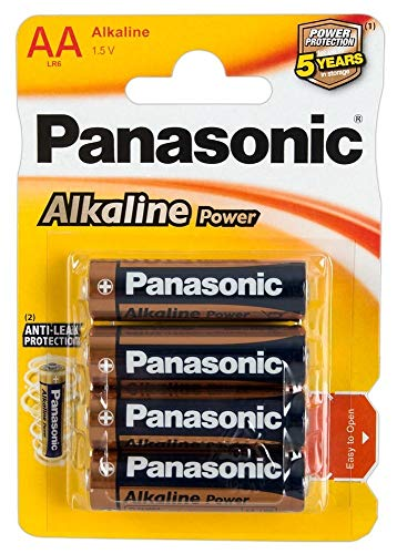 Panasonic POWER LR6 AA - Pack de 4 pilas alcalinas
