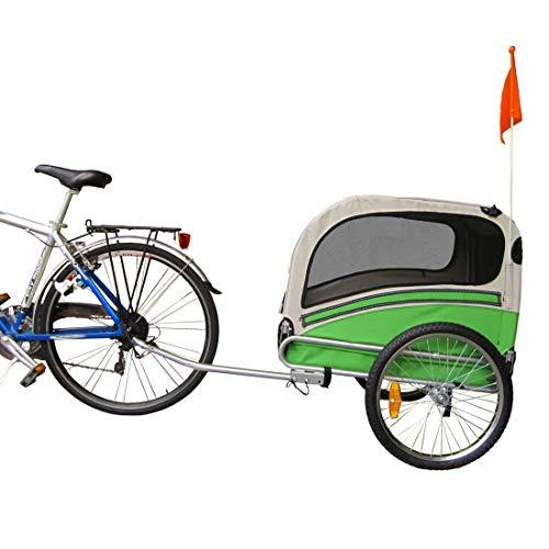Papilioshop Snoopy Remolque de Bicicleta para el Transporte de Perros y Animales (Verde M)