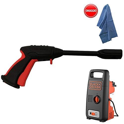 parpyon® - Pistola para hidrolimpiadora Annovi Reverberi - AR Blue Clean - Black&Decker - Conexión rápida para Tubo de Agua - Accesorios de Recambio hidrolimpiadoras + paño de Regalo (BD41623)