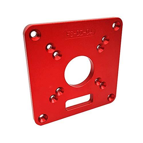 Placa de inserción para mesa de enrutador RT0700C, 120 x 120 x 8 mm, de aluminio, para carpintería