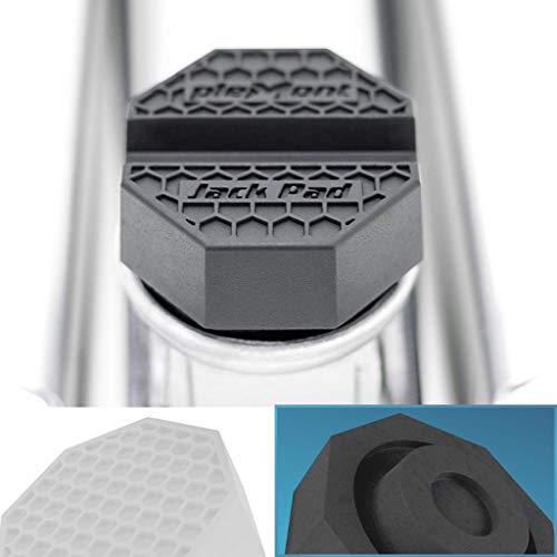 Plemont® Goma Gato hidraulico [Jackpad empotrada] - Fabricado en Europa - Bloque Goma Gato hidraulico Compatible con Todos los bastidores comunes del vehículo - Jackpad para Gato Coche