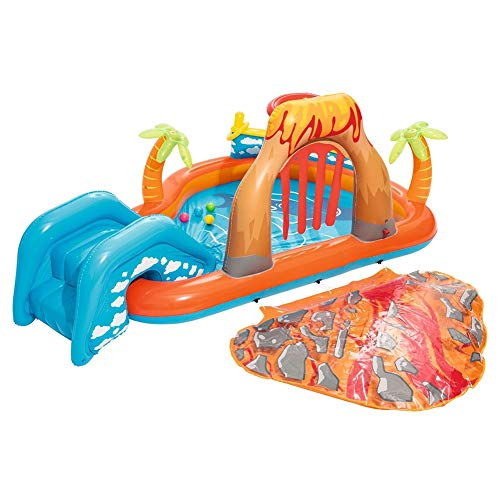 QXM Volcanic Play Pool Recreation Pool Piscine pour Enfants,Clear