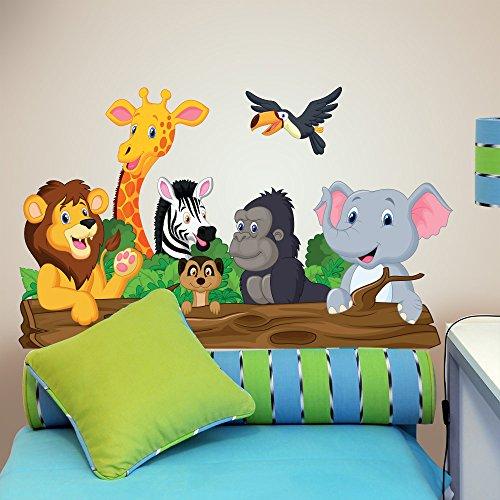 R00145 Pegatinas de pared Elefante León Jirafa Decoración Habitación infantil Kindergarten Nido Dormitorio