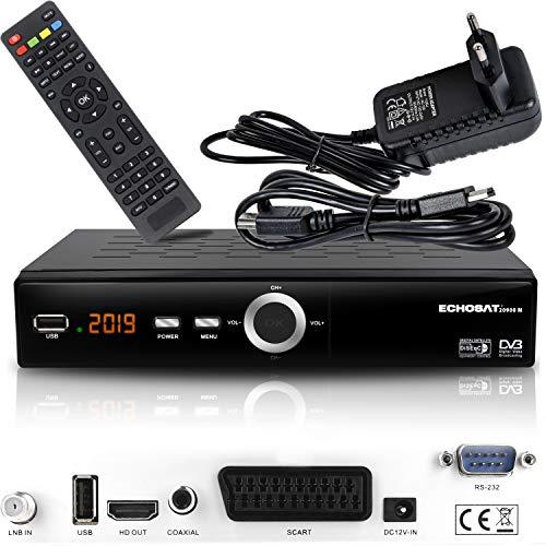Receptor de satélite Digital Echosat 20900 M (HDTV, DVB-S/S2, HDMI, SCART, 2 Puertos USB 2.0, Full HD 1080p) [preprogramado para Astra, Hotbird, Türksat] Sencillo Echosat 20900 M Echosat 20900