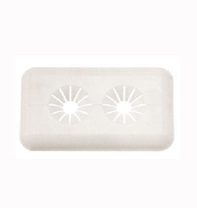 Recoval Floron embellecedor radiador rigido 15mm para 2 tubos blanco (pack 10uds)
