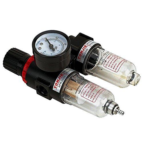 'Reductor de presión con manómetro Mantenimiento einheit1/4Impresión de aire Separador de agua Reductor de presión para compresor druckregler Marksman–componentes Regulator filtro de gas Procesador