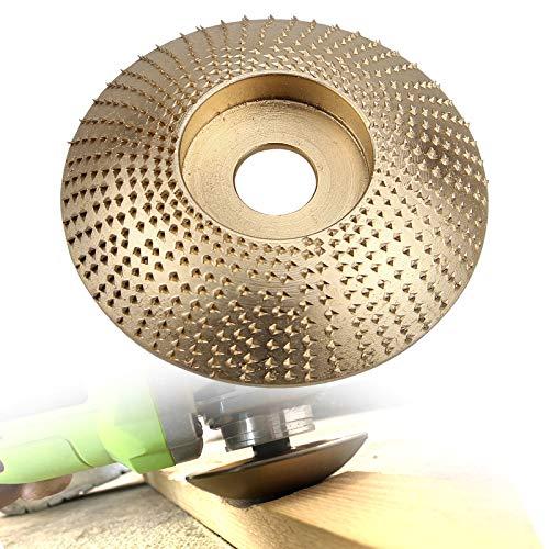RKURCK Plato para dar forma a la madera, escofina Disco abrasivo Rueda de carburo de tungsteno Herramienta para tallar lijado de madera para amoladoras angulares