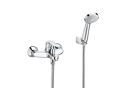 Roca A5A3125C00 Mezclador monomando exterior baño-ducha, Cromado
