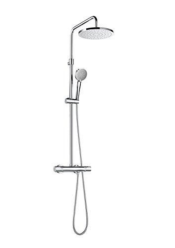 Roca A5A9780C00 Colección Even Round - Columna de ducha termostática, Cromado