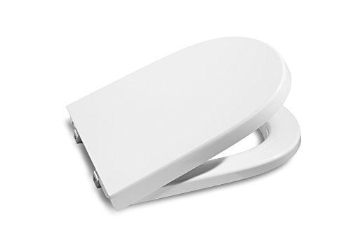 Roca A8012AC004 Meridian - Tapa y asiento con caída amortiguada para inodoro compacto, Blanco