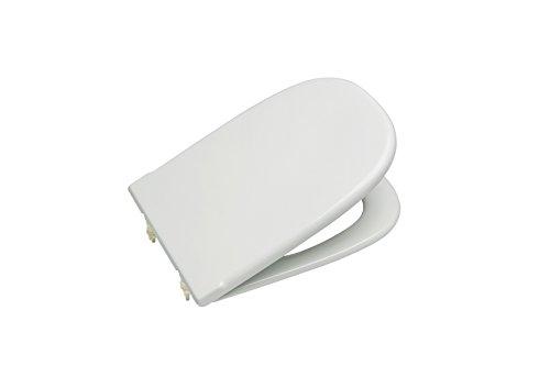 Roca A801327004 Tapa y asiento para inodoro con bisagras extraíbles, Blanco