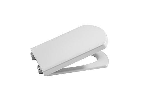 Roca A801622004 Tapa y asiento para inodoro compacto con caída amortiguada, Blanco