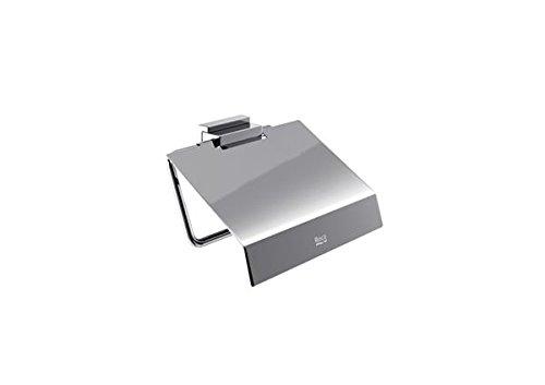 Roca A816849001 Portarrollo con tapa (Posibilidad de instalación mediante tornillería o adhesivo), Cromado