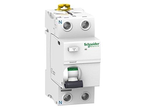 Schneider Electric A9R61225 iID Interruptor Diferencial, Clase A SI, 2P, 25A, 30mA, 73.5mm x 36mm x 91mm, Blanco