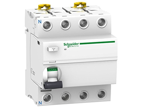 Schneider Electric A9R81440 Interruptor Diferencial Iid, 4P, 40A, 30Ma, Clase Ac