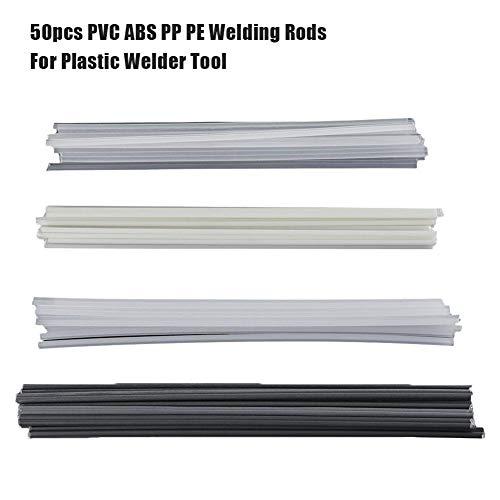 Seasaleshop Tubos de Soldadura de plástico, 50 Unidades, ABS, PP, PVC/PE, Varillas de Soldadura de 200 mm para Soldadura de plástico