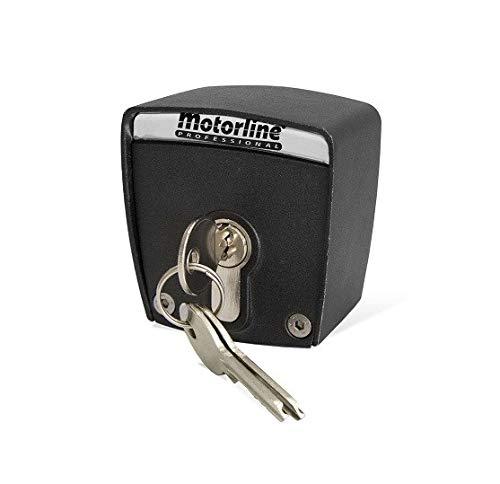Selector de llave exterior de superficie de 2 contactos Motorline SCMV START para accionamiento de motores de puertas de garaje, persianas comerciales, automatismos, control de accesos
