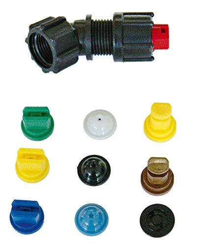 SOLO 49574 Juego de boquillas completo con 9 boquillas para pulverización, coloreadas, 19 x 11 x 2 cm