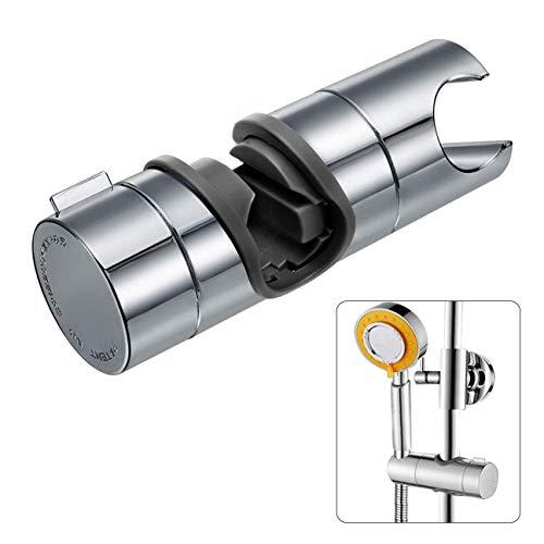 Soporte de ducha Joyoldelf Ajustable 18-25mm ABS Cabezal de ducha Deslizante Repuesto para cabezal Cursor Brazo de sujeción 360° Rotar Bracket, Cromado